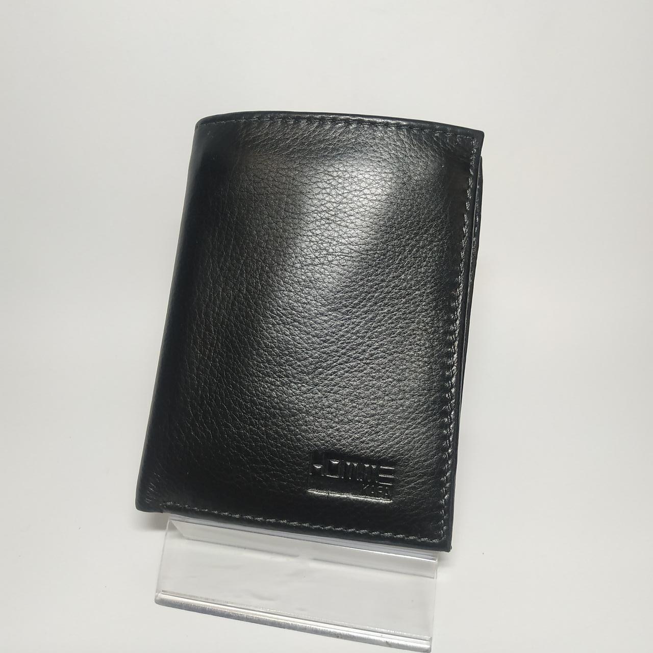 Черный кожаный мужской кошелек портмоне KAFA 632-A