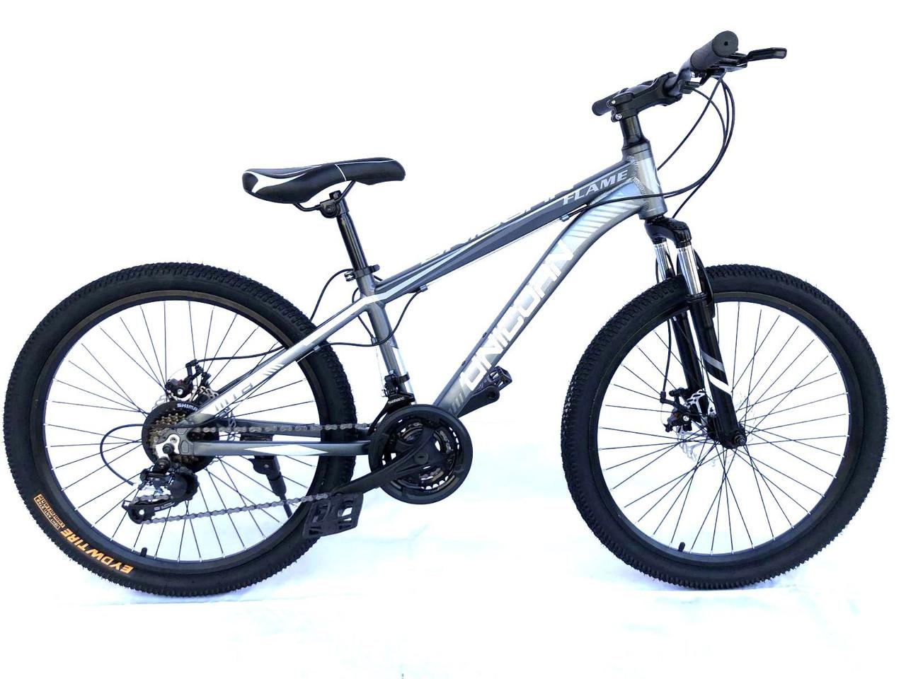 "Велосипед Unicorn - Flame 24"" размер рамы 15"" Grey"