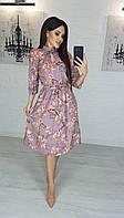 Женское нежное платье с цветами
