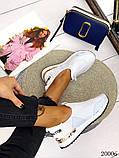 Женские кроссовки Louis Vuitton кожа + текстиль. Очень крутые! Белые!, фото 2