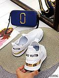 Женские кроссовки Louis Vuitton кожа + текстиль. Очень крутые! Белые!, фото 3