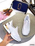 Женские кроссовки Louis Vuitton кожа + текстиль. Очень крутые! Белые!, фото 4