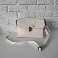 "Женская кожаная сумка ""Мелитта 2 White"", фото 1"