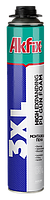Професиональная пистолетная монтажная пена Akfix 850мм(3XL)FA073