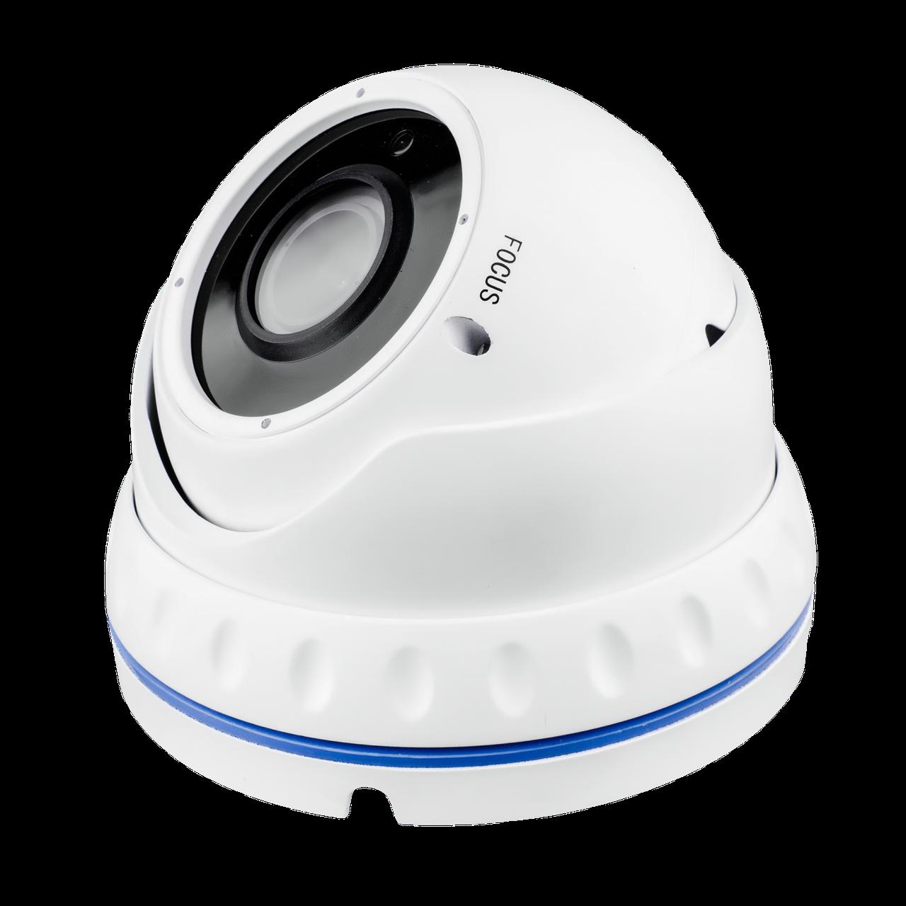 Гибридная Антивандальная камера для внутренней и наружной установки GreenVision GV-052-GHD-G-DOA20V-30 1080p