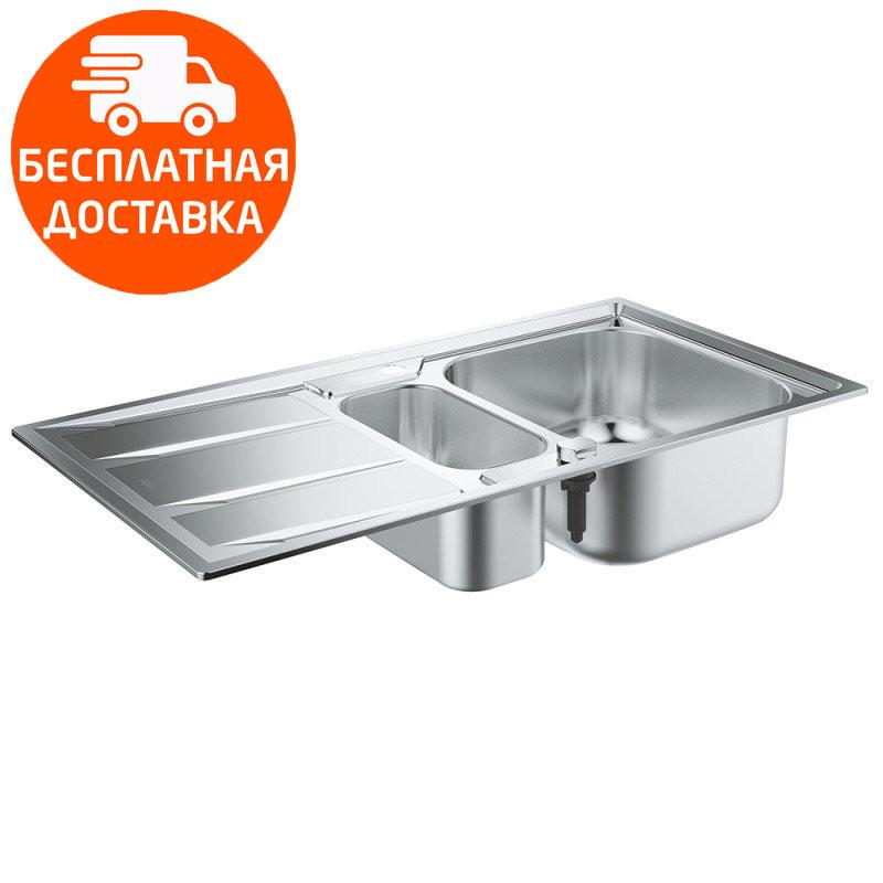 Мойка для кухни на полторы чаши Grohe EX Sink K400 31567SD0 нержавеющая сталь