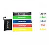 Гумка для фітнесу та спорту Esonstyle набір 5 шт + Чохол в комплекті (Арт. 0421)