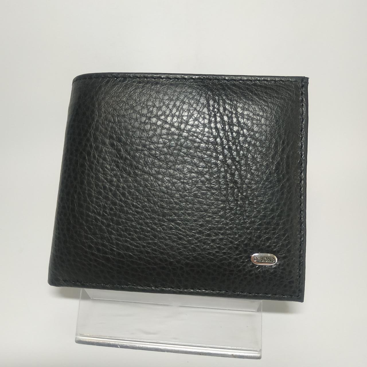 Кожаный мужской кошелек портмоне Classic DR. BOND M54 black