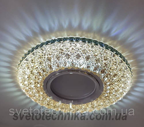 Встраиваемый  светильник 7760 MR16 с LED подсветкой коричневый большой