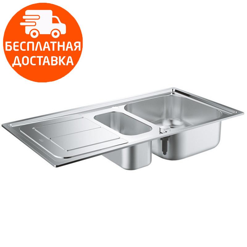 Мойка для кухни на полторы чаши Grohe EX Sink K300 31564SD0 нержавеющая сталь