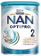 Суха молочна суміш NAN® 2 OPTIPRO® 800 г для дітей від 6 місяців.