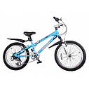 Велосипед двухколесный 20 дюймов RoyalBaby Freestyle RB20B-6SС синий, фото 4