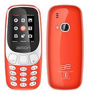 Кнопочный телефон с камерой, блютузом и плеером и фонариком на 2 сим карты AELion A300 Red (копия Nokia 3310)