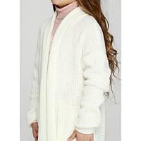 Вязаные кофты и свитера для девочек
