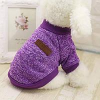 Свитер джемпер одежда для собак размер XL сиреневый