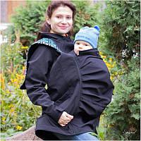 Слингокуртка LENNYLAMB Softshell 3 в 1 (размер S, чёрный), фото 1