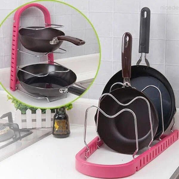 Стойка для сковородок Frying pan rack Розовый