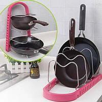 Стойка для сковородок Frying pan rack Розовый, фото 1