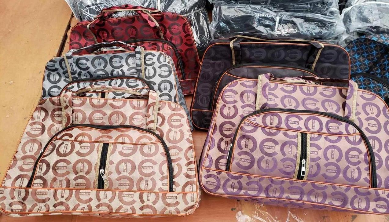 Женская дорожная сумка, красная 53х35х18