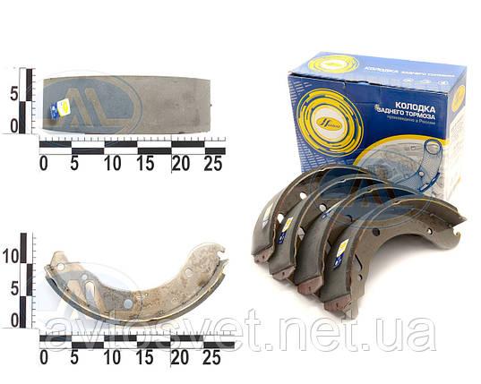 Колодка тормозная Газель задняя (компл.4шт) (пр-во НАЧАЛО) 3302-3502090, фото 2