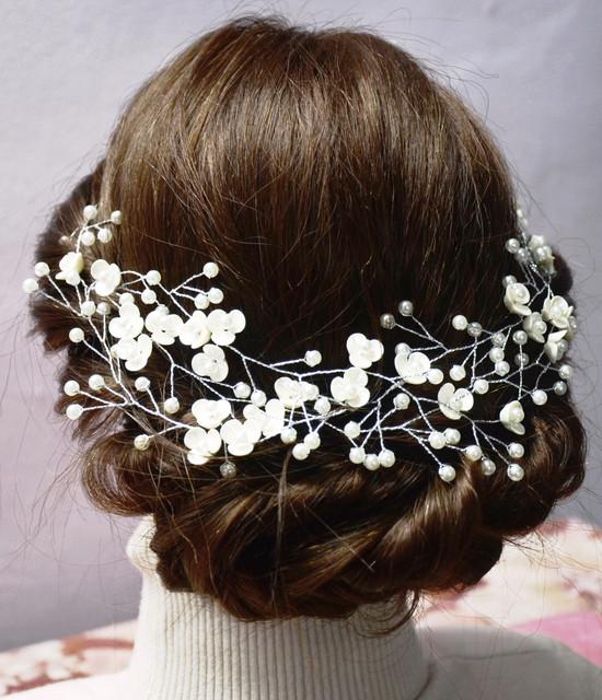 Шпильки, гребни, декор для волос невест, выпускных, вечерних причесок