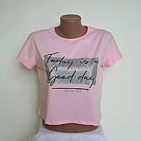 """Укороченая футболка """"Today """" В РАСЦВЕТКАХ ! ОПТОМ !, фото 1"""