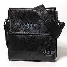 Мужская сумка через плечо Jeep Черная 21см х 19см Кожа PU 556 black Vsem