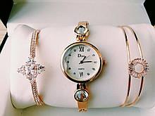 Шикарные наручные женские часы Disu звезда с ДВУМЯ браслетами TyT