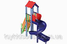 Детский комплекс Мини с пластиковой горкой Спираль Kidigo (11514)
