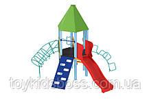 Детский комплекс Башня с пластиковой горкой  Kidigo (11363)