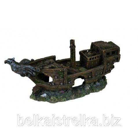 Декорация для аквариума Trixie Разбитый корабль, 32 см.