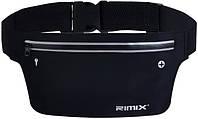 Сумка на пояс Rimix влагозащитная черная, фото 1
