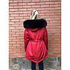 Парка женская с натуральным мехом песца Arctic fox colored, фото 5