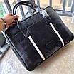 Сумка с передним карманом BALLY|Мессенджер мужской кожаный черный Балли, фото 4