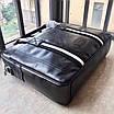 Сумка с передним карманом BALLY|Мессенджер мужской кожаный черный Балли, фото 5