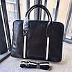 Сумка с передним карманом BALLY|Мессенджер мужской кожаный черный Балли, фото 7