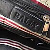 Сумка кожаная вместительная BALLY Мужской мессенджер Балли черного цвета кожаный с ручками, фото 2