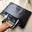 Сумка кожаная вместительная BALLY Мужской мессенджер Балли черного цвета кожаный с ручками, фото 7
