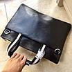 Сумка кожаная вместительная BALLY Мужской мессенджер Балли черного цвета кожаный с ручками, фото 8
