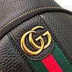 Сумка-слинг Gucci| Мужска наградная сумка Гуччи черного цвета с красной-зеленой полоской|Нагрудная сумка Гуччи, фото 5