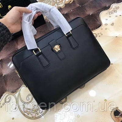 Мессенджер Versace|Сумка на плече Версаче черного цвета мужская женская с логотипами