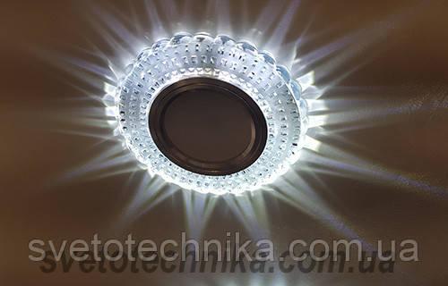 Встраиваемый  светильник 7861 MR16 с LED подсветкой