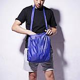 Складная компактная сумка-шоппер Shopping bag to roll up Синий, фото 2