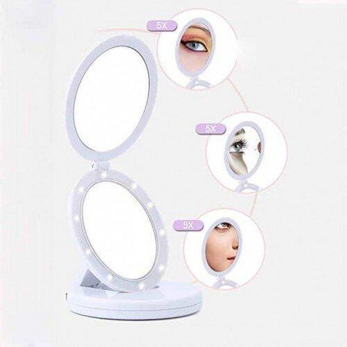 Складное зеркало с Led подсветкой Large Led Mirror Eclipse