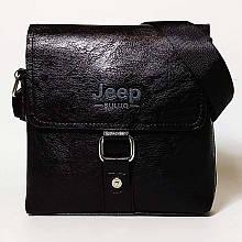 Мужская сумка через плечо Jeep Черная 21см х 19см Кожа PU 560 black Vsem