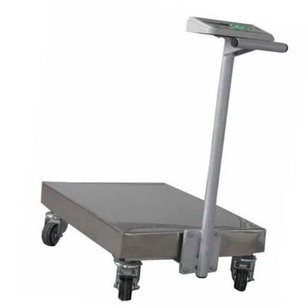 Весы тележка Техноваги ТВ1-12epa (300 кг - 600х700), фото 2
