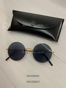 Круглые солцезащитные очки Черные