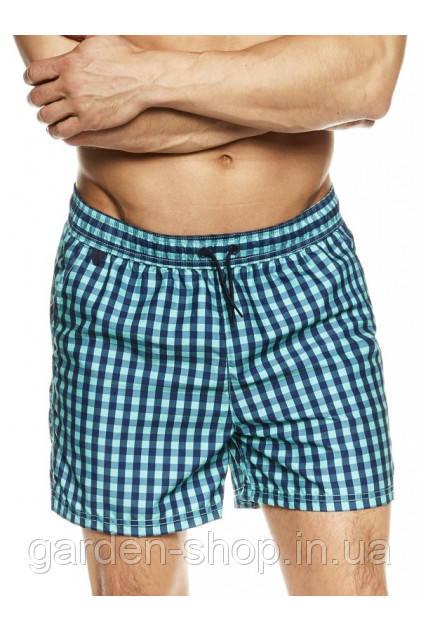 Пляжні шорти чоловічі Henderson бірюза у клітку М