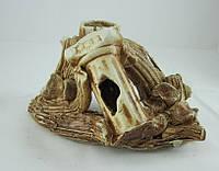 Керамика для аквариума Коряга с колонной, 20х12 см., фото 1