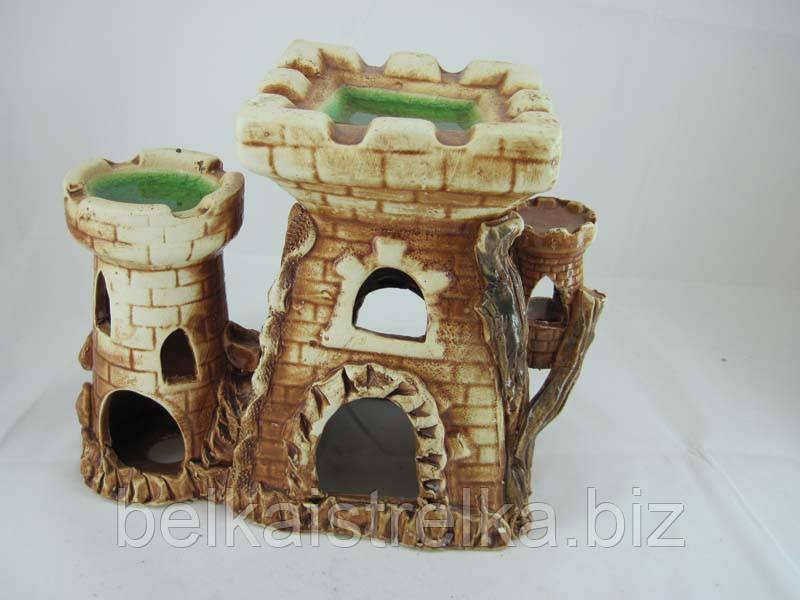 Керамика для аквариума Крепость-башня, 22х18 см.